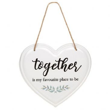 Together Is My Favourite Place To Be Metal Hanging Home Plaque